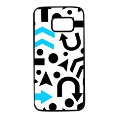 Cyan right direction Samsung Galaxy S7 Black Seamless Case