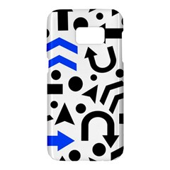 Blue right direction Samsung Galaxy S7 Hardshell Case