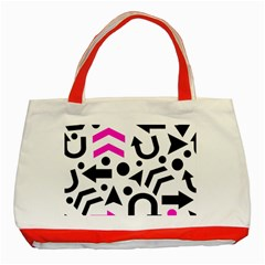 Magenta Right Direction Classic Tote Bag (red)