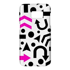 Magenta right direction Samsung Galaxy S7 Hardshell Case