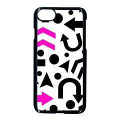 Magenta Right Direction Apple Iphone 7 Seamless Case (black)