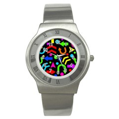 Right Direction   Colorful Stainless Steel Watch
