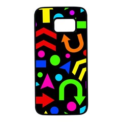 Right direction - Colorful Samsung Galaxy S7 Black Seamless Case