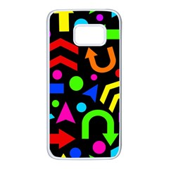 Right direction - Colorful Samsung Galaxy S7 White Seamless Case