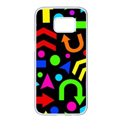 Right direction - Colorful Samsung Galaxy S7 edge White Seamless Case