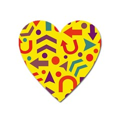 Yellow direction Heart Magnet