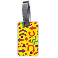 Yellow direction Luggage Tags (One Side)
