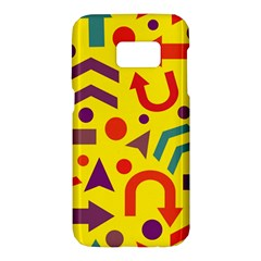 Yellow direction Samsung Galaxy S7 Hardshell Case