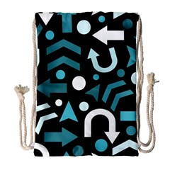 Cyan direction  Drawstring Bag (Large)