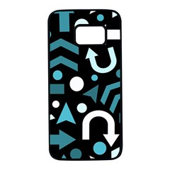 Cyan Direction  Samsung Galaxy S7 Black Seamless Case