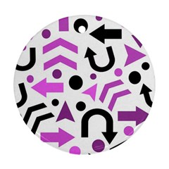 Magenta direction pattern Ornament (Round)