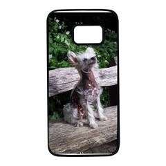 Chinese Crested Dog Sitting 2 Samsung Galaxy S7 Black Seamless Case
