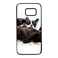 French Bulldog Pile Of Puppies Samsung Galaxy S7 Black Seamless Case
