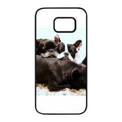 French Bulldog Pile Of Puppies Samsung Galaxy S7 edge Black Seamless Case
