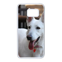 White German Shepherd Samsung Galaxy S7 White Seamless Case