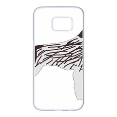German Wirehaired Pointer Silo Color Samsung Galaxy S7 edge White Seamless Case