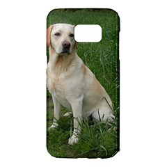 Yellow Labrador Full Samsung Galaxy S7 Edge Hardshell Case