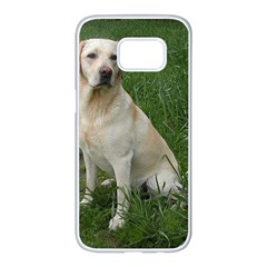 Yellow Labrador Full Samsung Galaxy S7 edge White Seamless Case