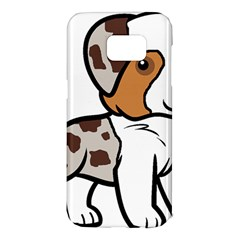 Aussie Red Merle Cartoon Samsung Galaxy S7 Edge Hardshell Case