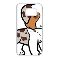 Aussie Red Merle Cartoon Samsung Galaxy S7 White Seamless Case