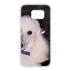 White Poodle Samsung Galaxy S7 edge White Seamless Case