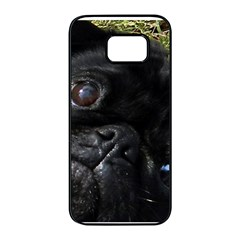 Black Pug Eyes Samsung Galaxy S7 edge Black Seamless Case