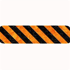 Stripes3 Black Marble & Orange Marble (r) Large Bar Mat