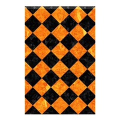 Square2 Black Marble & Orange Marble Shower Curtain 48  X 72  (small)