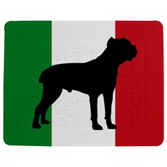 Cane Corso Silhouette Flag Italy Jigsaw Puzzle Photo Stand (rectangular)