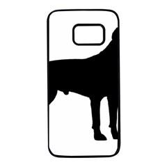 Cane Corso Silhouette Flag Italy Samsung Galaxy S7 Black Seamless Case
