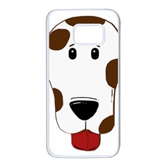 Dalmation 2 Sided Liver Samsung Galaxy S7 White Seamless Case
