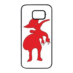 Grotesque Red Creature  Samsung Galaxy S7 edge Black Seamless Case