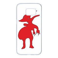 Grotesque Red Creature  Samsung Galaxy S7 edge White Seamless Case