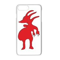 Grotesque Red Creature  Apple Iphone 7 Plus White Seamless Case