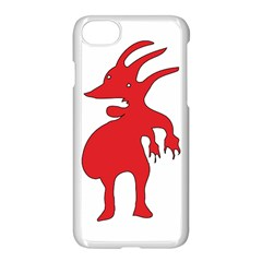 Grotesque Red Creature  Apple Iphone 7 Seamless Case (white)