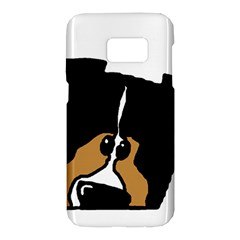 Black Tri Peeping Mini Aussie Dog Samsung Galaxy S7 Hardshell Case