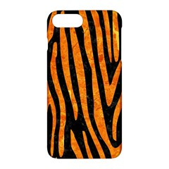 Skin4 Black Marble & Orange Marble (r) Apple Iphone 7 Plus Hardshell Case