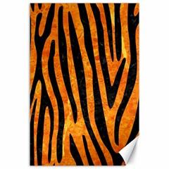 Skin4 Black Marble & Orange Marble Canvas 24  X 36
