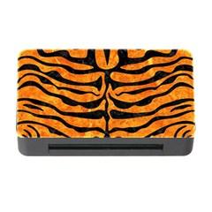 Skin2 Black Marble & Orange Marble (r) Memory Card Reader With Cf
