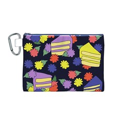 Cake Lover Canvas Cosmetic Bag (m)
