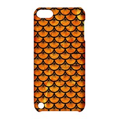 Scales3 Black Marble & Orange Marble (r) Apple Ipod Touch 5 Hardshell Case With Stand