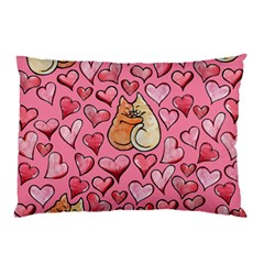 Cat Love Valentine Pillow Case (two Sides)