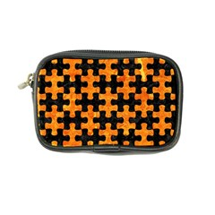 Puzzle1 Black Marble & Orange Marble Coin Purse