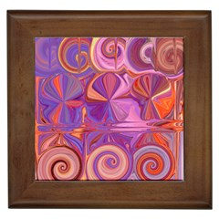 Candy Abstract Pink, Purple, Orange Framed Tiles