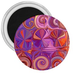 Candy Abstract Pink, Purple, Orange 3  Magnets