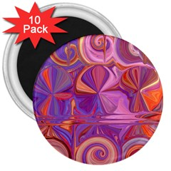 Candy Abstract Pink, Purple, Orange 3  Magnets (10 pack)