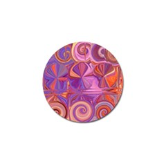 Candy Abstract Pink, Purple, Orange Golf Ball Marker (10 pack)