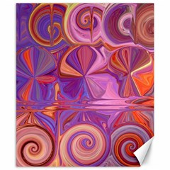 Candy Abstract Pink, Purple, Orange Canvas 8  x 10