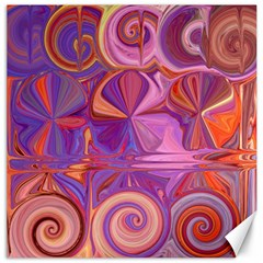 Candy Abstract Pink, Purple, Orange Canvas 12  X 12