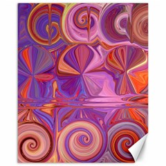 Candy Abstract Pink, Purple, Orange Canvas 16  X 20